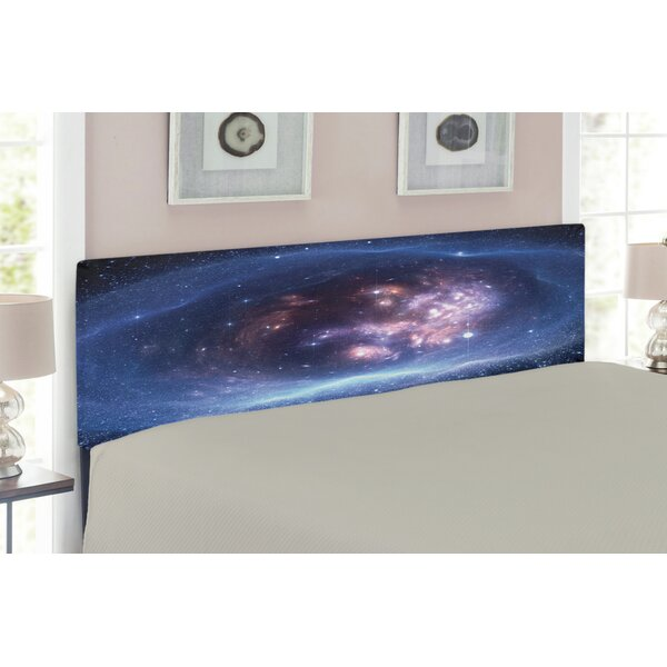 Ambesonne Outer Space Queen Upholstered Panel Headboard by East Urban Home