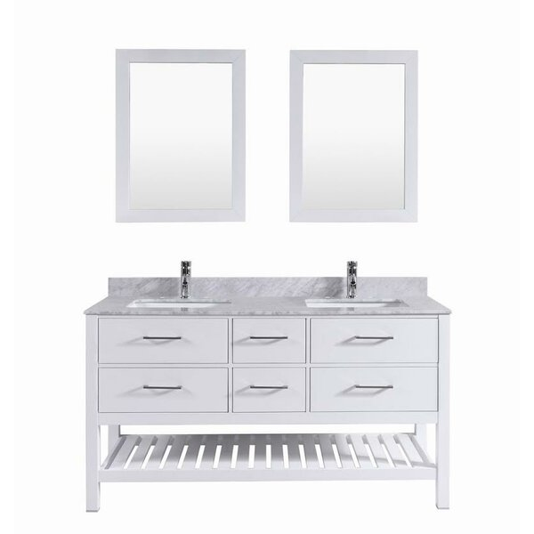 Signature Series 60 Double Bathroom Vanity Set by Belvedere Bath