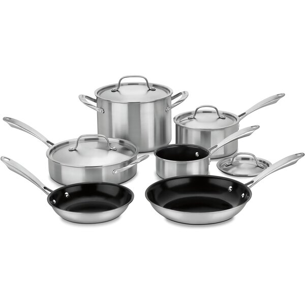 GreenGourmet Tri-Ply Stainless 10-Piece Non-Stick Cookware Set by Cuisinart