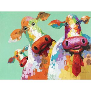 'Curious Cows I' Painting by Zoomie Kids