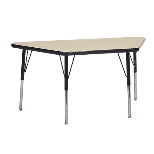 Trapezoid Thermo-Fused Adjustable 24 x 48 Trapezoidal Activity Table by ECR4kids