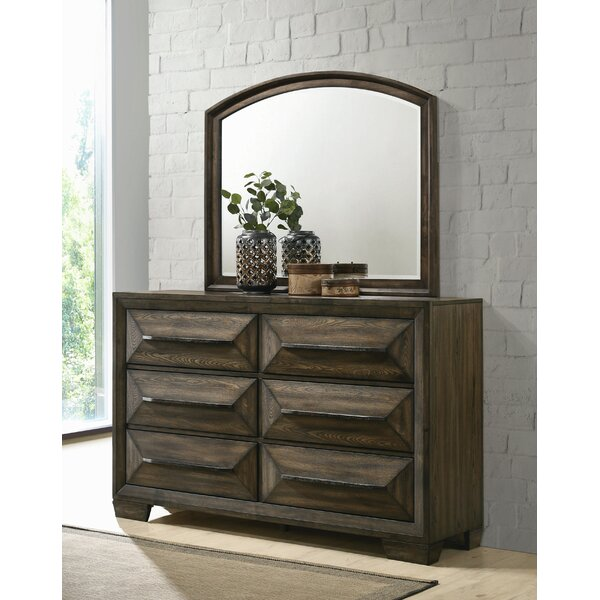 Winegar 6 Drawer Double Dresser with Mirror by Foundry Select