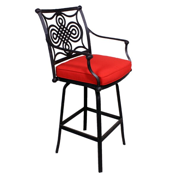 Bermuda 27.5 Patio Bar Stool with Cushion by California Outdoor Designs