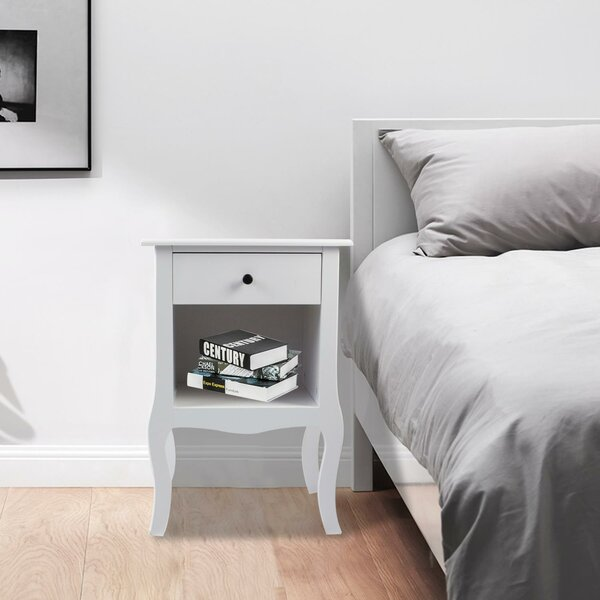 Owings 1 Drawer Nightstand In White By Canora Grey