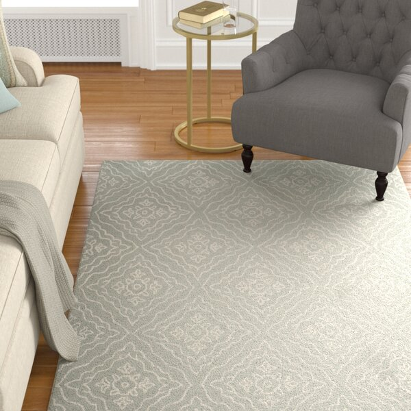 Concord Hand-Tufted Wool Slate/Ivory Area Rug by Alcott Hill