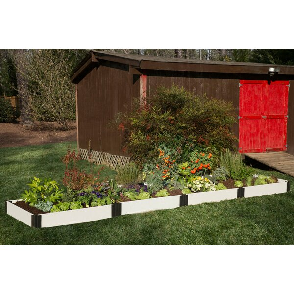 Classic White 16 ft x 4 ft Manufactured Wood Raised Garden by Frame It All