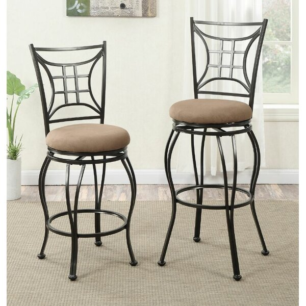 Harman 24 Swivel Bar Stool (Set of 2) by Alcott Hill
