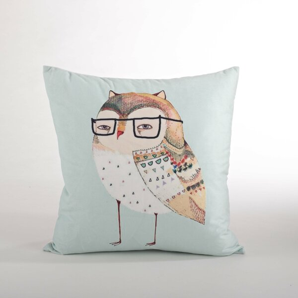 Les Trois Hiboux Owl Design Throw Pillow by Saro