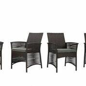 Codman Backyard Pool Steel Frame Patio Chair with Cushions by Bay Isle Home Bay Isle Home