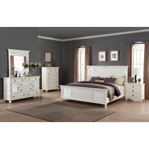 Regitina Panel 5 Piece Bedroom Set by Roundhill Furniture