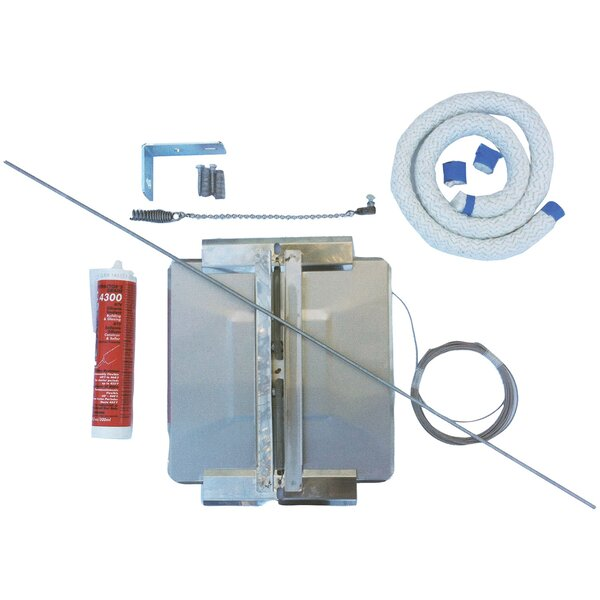 Universal Stainless Steel Chimney Cover Damper Kit by HY-C