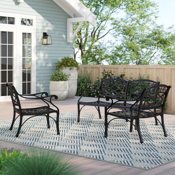 Carmen 3 Piece Sofa Seating Group by Sol 72 Outdoor