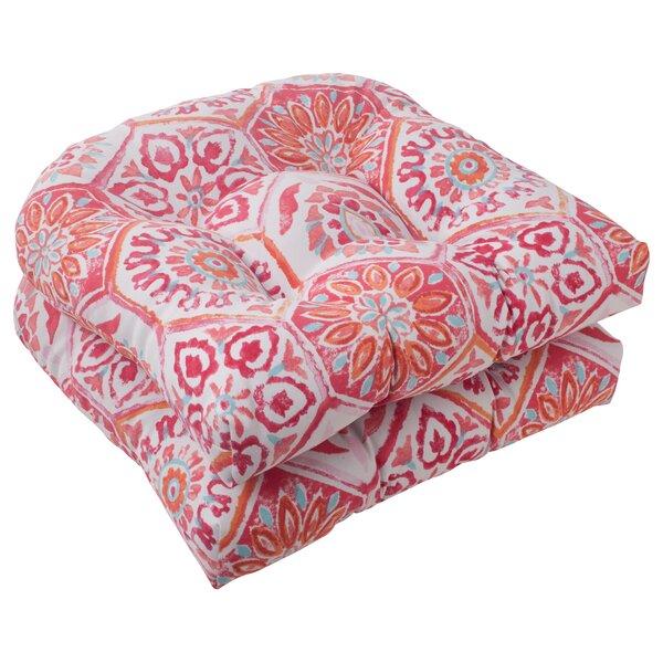 Burkburnett Fabric Indoor/Outdoor Seat Cushion (Set of 2)
