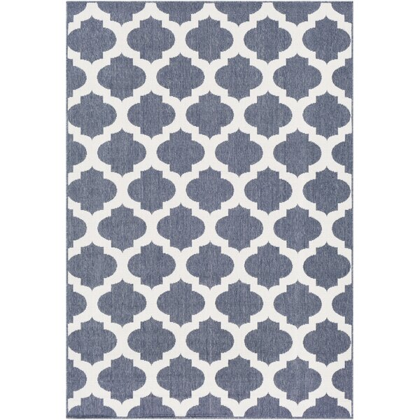 Pearce Trellis Charcoal Indoor/Outdoor Area Rug by Charlton Home