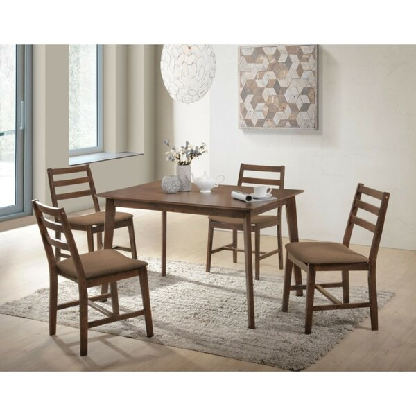 Modlin Wooden Slatted Back Chairs 5 Piece Dining Set by Winston Porter