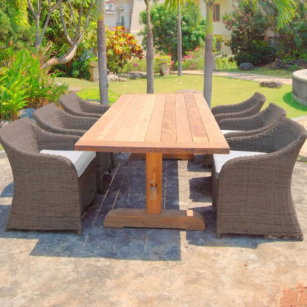 Porto Fino 7 Piece Teak Dining Set with Cushions by Padmas Plantation