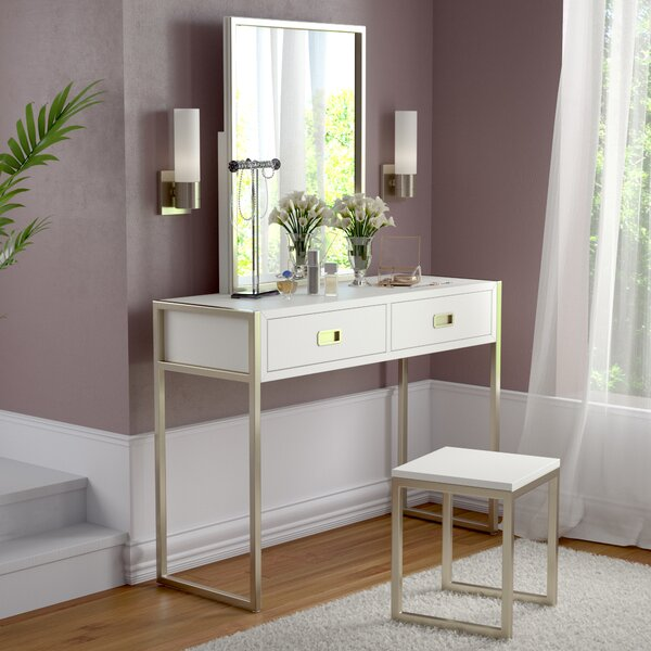 Caran 3 Piece Vanity Set by Everly Quinn