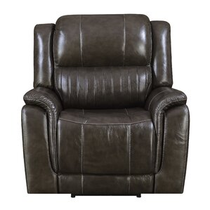 Guineau Leather Power Recliner by Red Barrel Studio