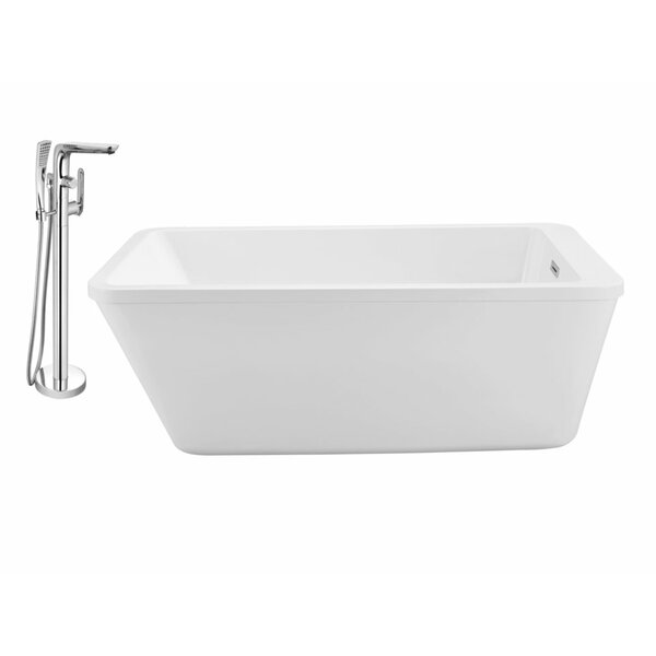 60 x 32 Freestanding Soaking Bathtub by Wildon Home ®