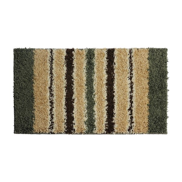 Olive Green/Brown Area Rug by Attraction Design Home
