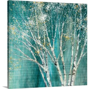 'Blue Birch' by Julia Purinton Painting Print on Wrapped Canvas by Great Big Canvas