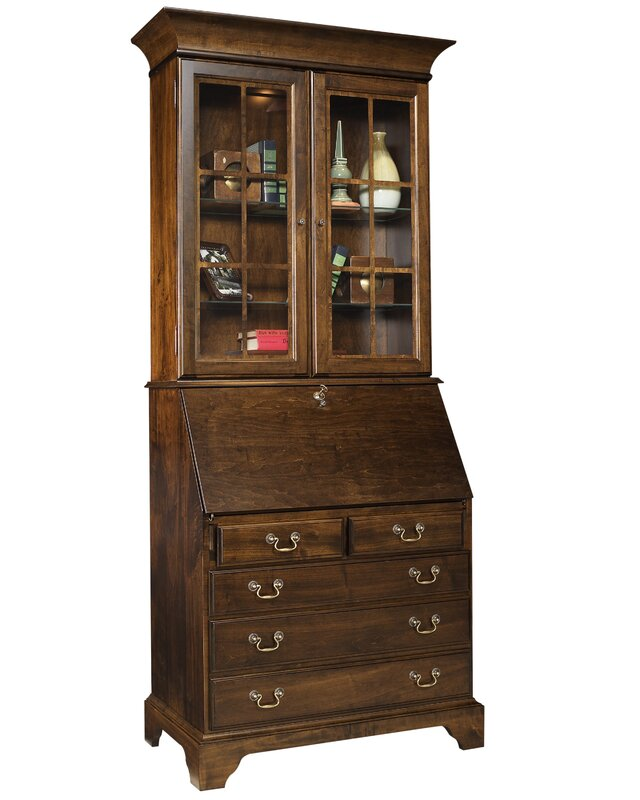 Darby Home Co Berghoff Secretary Desk With Hutch & Reviews