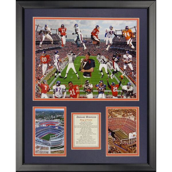 NFL Denver Broncos - Bronco Greats Framed Memorabili by Legends Never Die