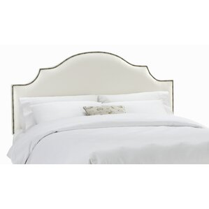 Arc Shantung Nail Button Panel Headboard by Skyline Furniture