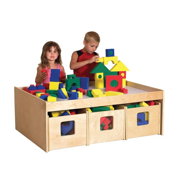 Classroom Play School 46 x 33.5 Rectangular Activity Table by Offex