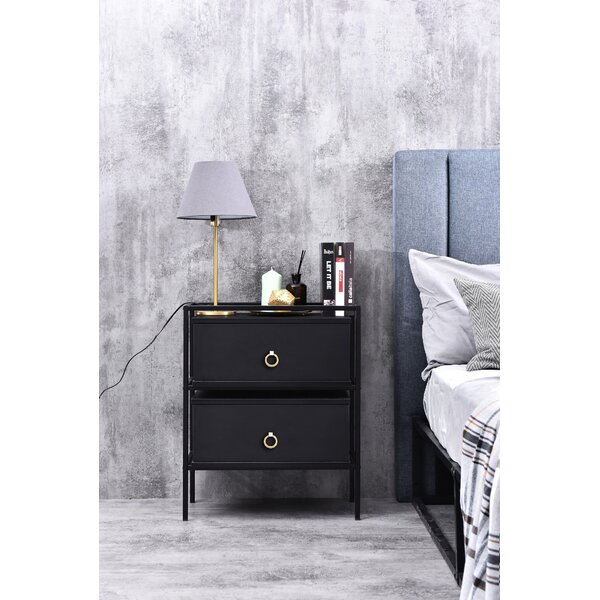 Broadmoor Bedside 1 Drawer Nightstand by Ivy Bronx