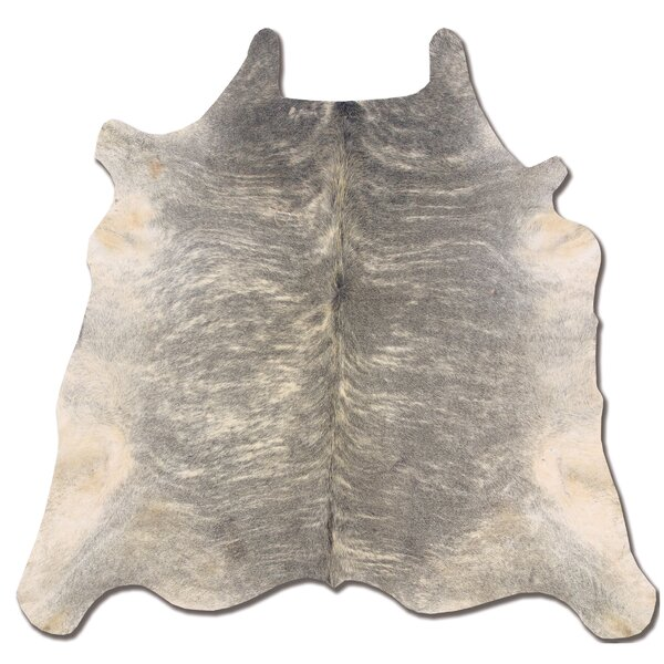 Waddington Hand-Tufted Cowhide Light Brindle Area Rug by Bloomsbury Market