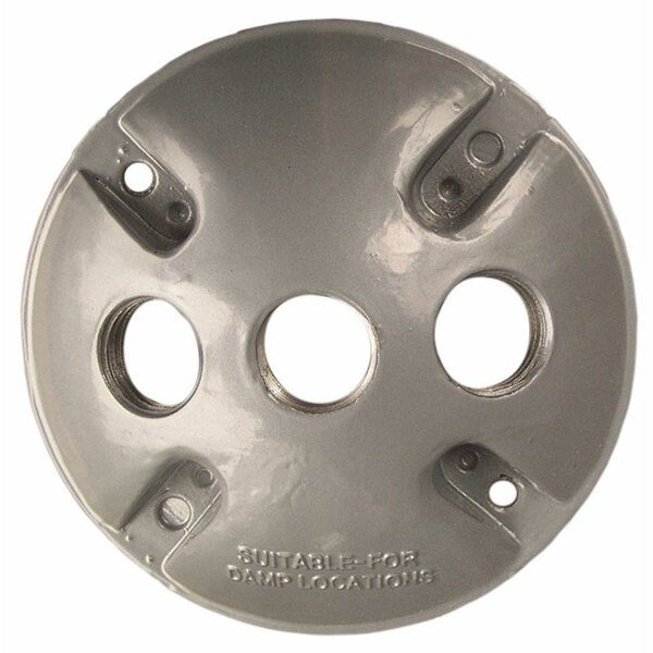 Round Weatherproof Covers in Gray with Three Hole by Morris Products
