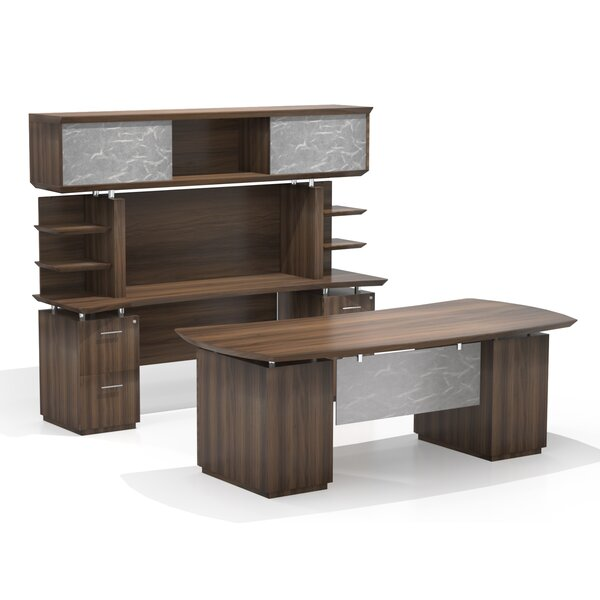 Sterling Executive Desk with Hutch by Mayline Group