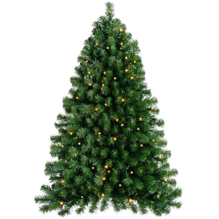 Artificial Christmas Trees Uk.Pre Lit Wall Mounted 3ft Green Pine Artificial Christmas Tree With 50 Led Lights