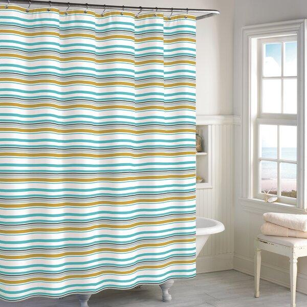 Cimino Stripe Cotton Shower Curtain by Highland Dunes