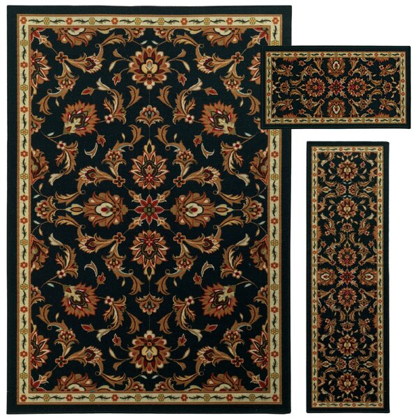 Westview 3 Piece Brown/Beige Area Rug Set by Threadbind
