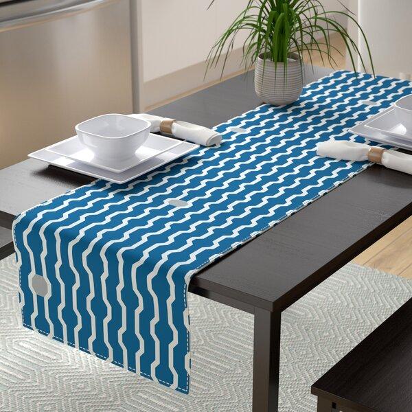 Uresti Geometric Print Table Runner by Wrought Studio