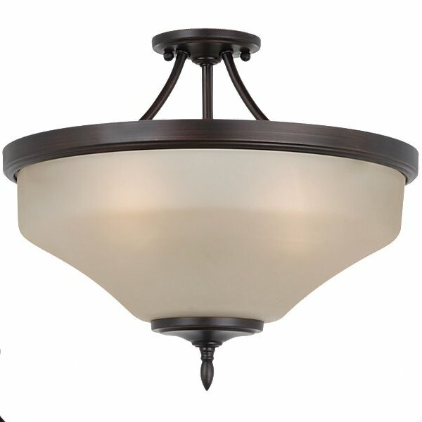 Sowders 3-Light Semi Flush Mount by Andover Mills