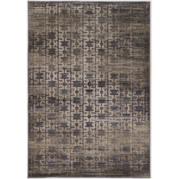 Pasho Beige/Black Area Rug by Bungalow Rose