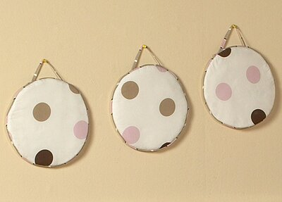 3 Piece Mod Dots Hanging Art Set by Sweet Jojo Designs