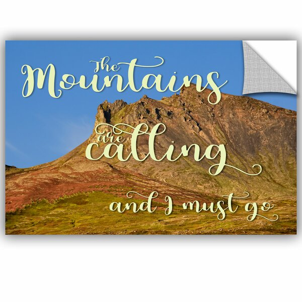 Calling Mountains Removable Wall Decal by Zipcode Design