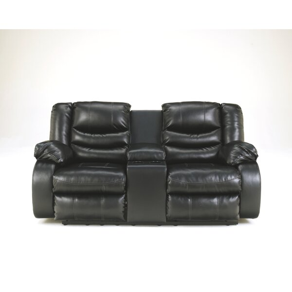 Best #1 Sia Reclining Loveseat With Console By Red Barrel Studio Modern