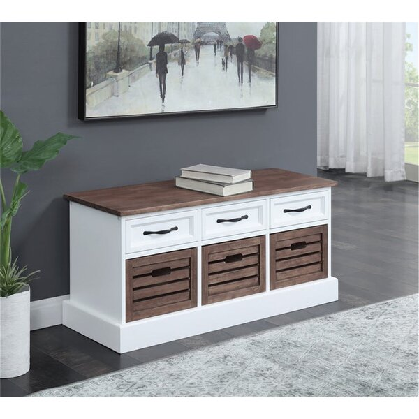 Cielito Storage Entryway Bench by Rosecliff Heights