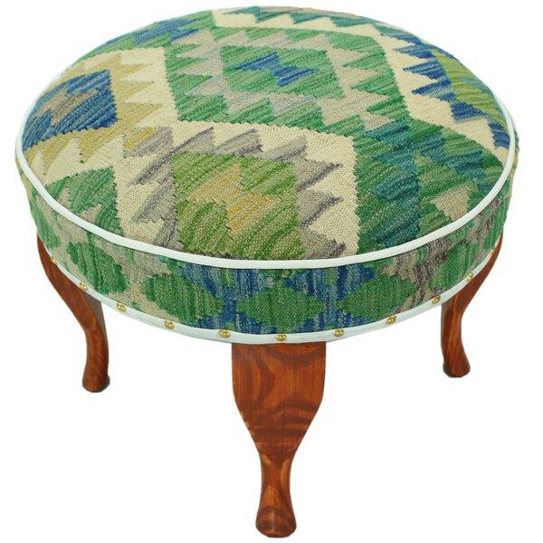 Stricker Kilim Upholstered Handmade Ottoman by Bloomsbury Market