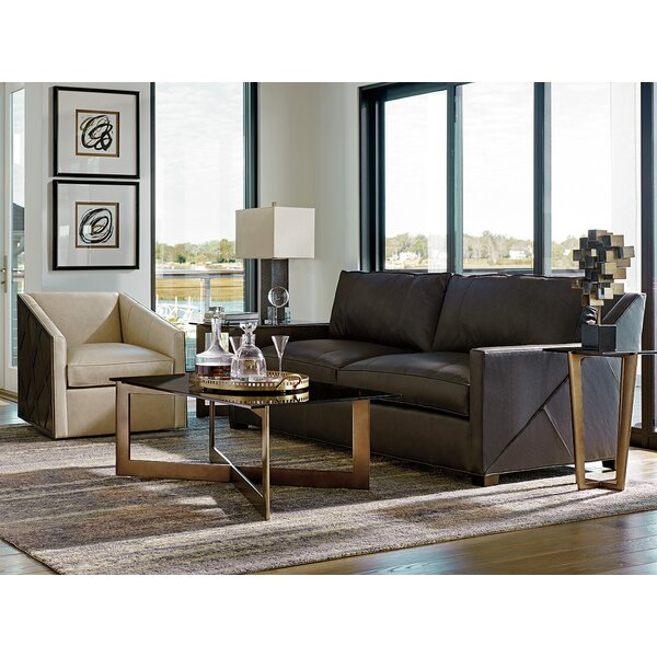 Sales-priced Zavala Leather Sofa Amazing Deals on