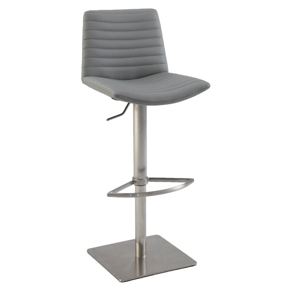 Adjustable Height Bar Stool by Chintaly Imports