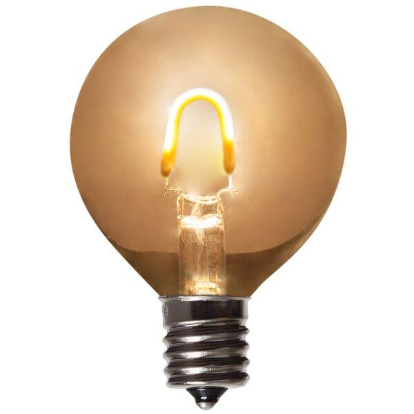 1W E17 Globe Light Bulb Amber (Set of 5) by Wintergreen Lighting