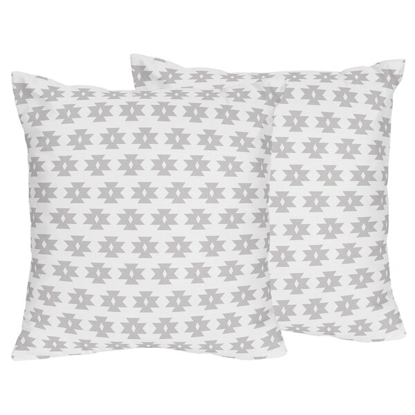 Feather Tribal Geometric Print Throw Pillow (Set of 2) by Sweet Jojo Designs