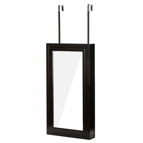 Denaux Over the Door Jewelry Armoire with Mirrror by Winston Porter