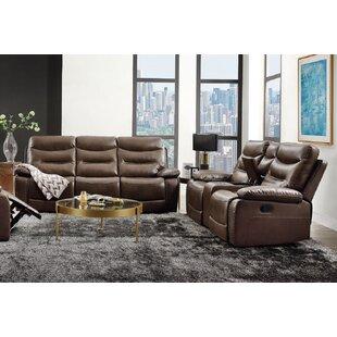 Glendoris 2 Piece Faux leather Reclining Living Room Set by Ebern Designs